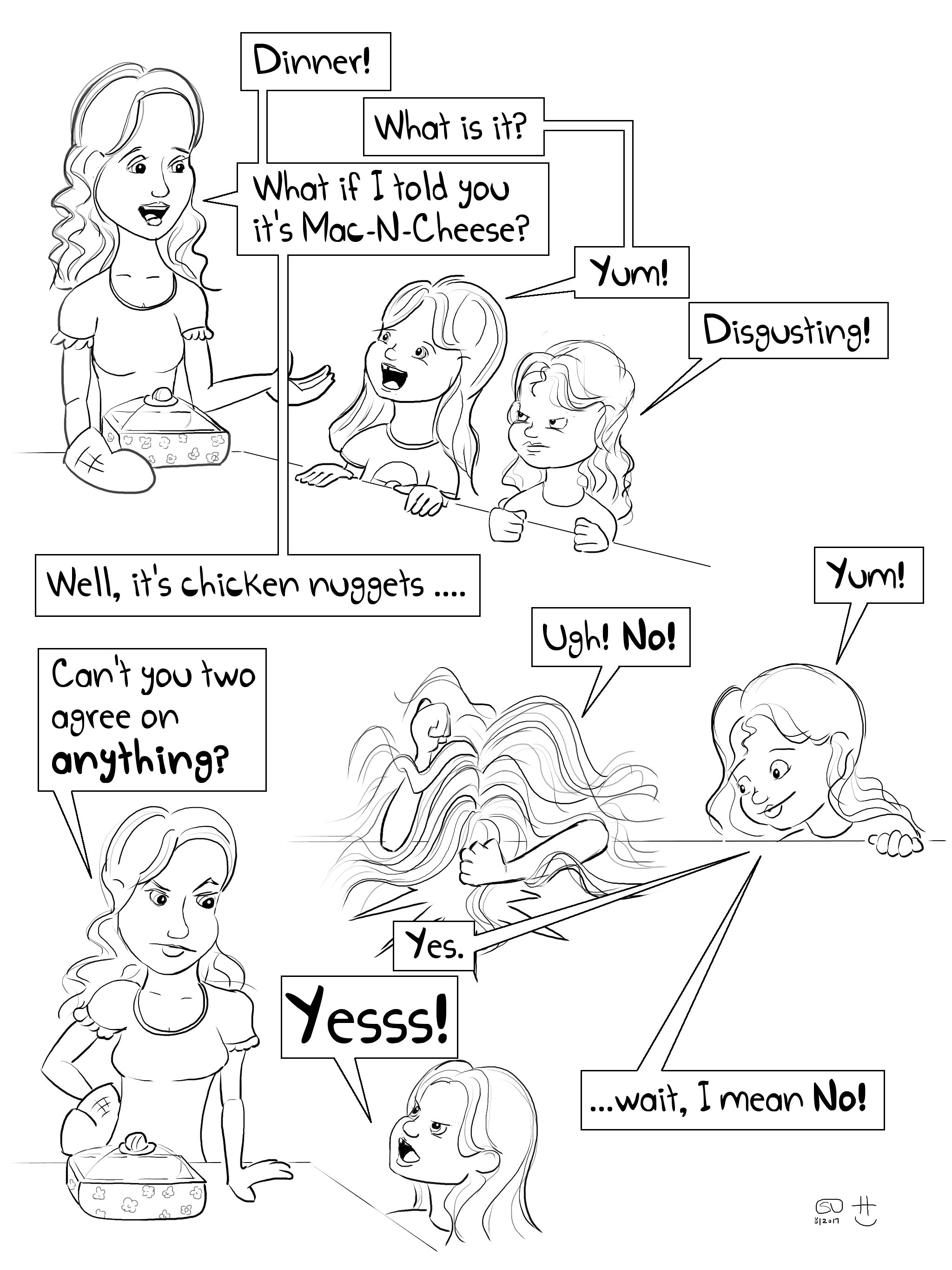 dinnertime food eating with kids picky finicky eater parenting fail comic