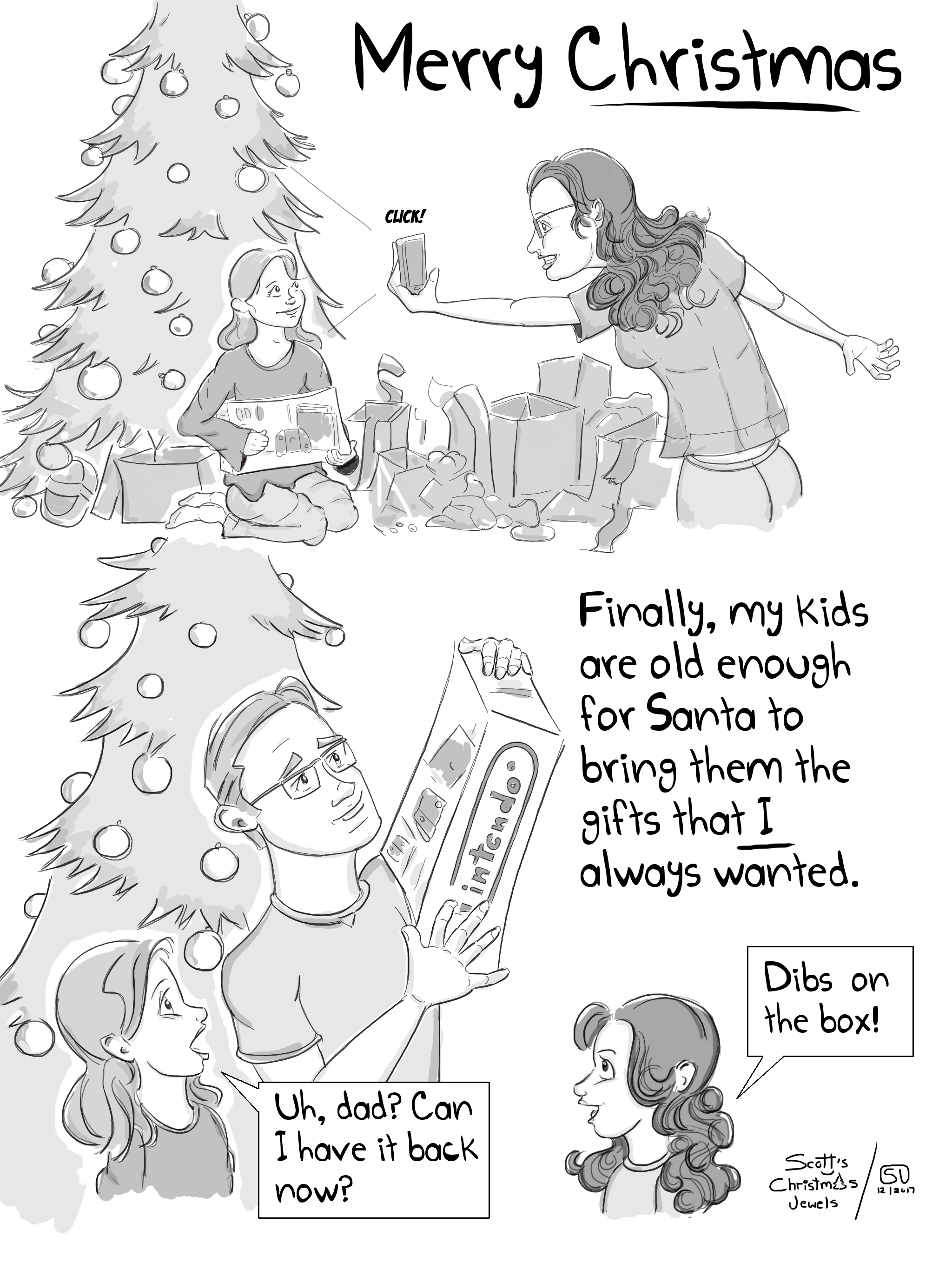 Christmas Nintendo Switch Gaming Santa Best Gift Ever Parenting Fail Comic