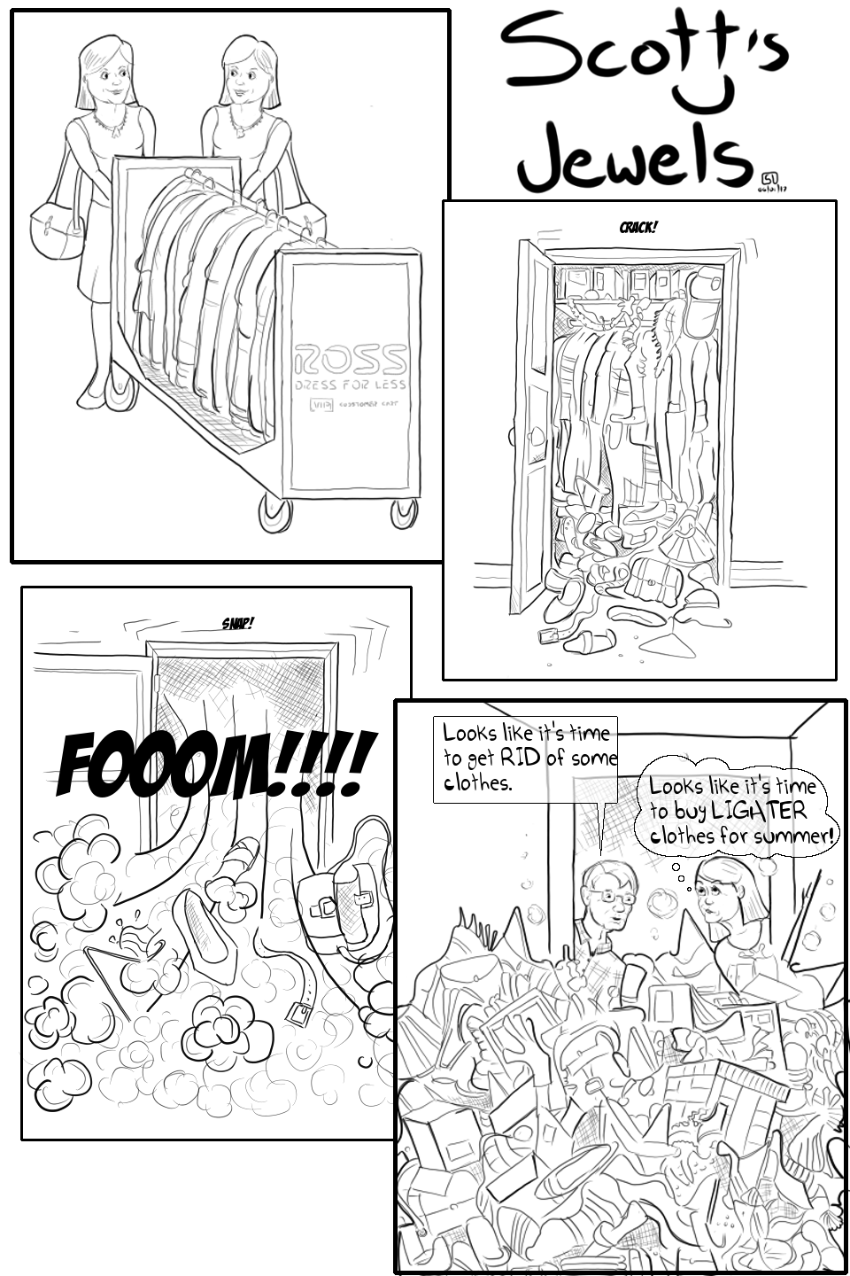 fashionista closet wardobe style clothes mom family homeimprovement drawnandcoded comic
