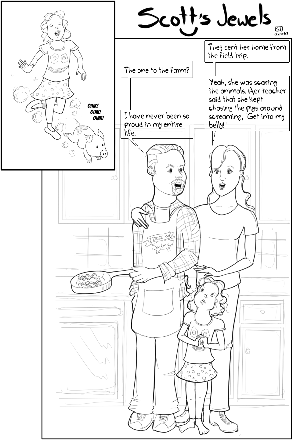 other white meat pork pig lover farm food bacon love bacon cooking grilling parenting comic