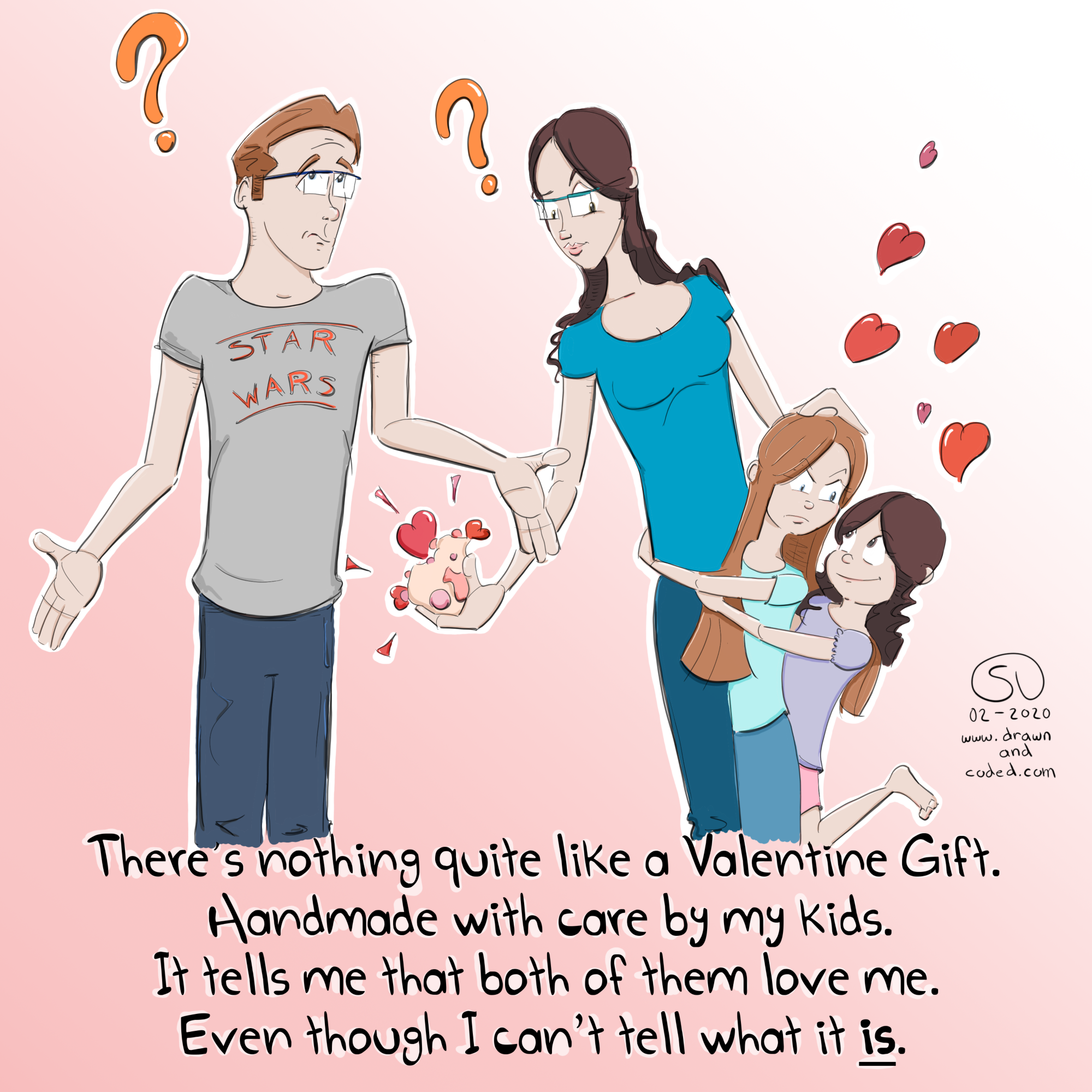 happy valentines day handmade handcrafted parenting family parenting fail comic
