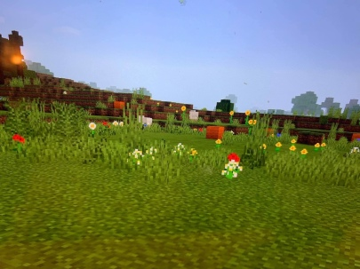 """The """"Eggs"""" were brightly colored in-game wool blocks."""
