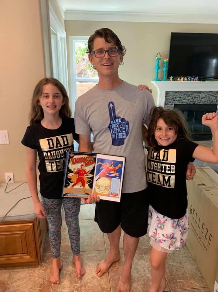 My girls and I. Hoping for superpowers ... and a cure.